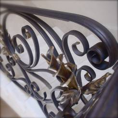 Gold finish to wrought iron